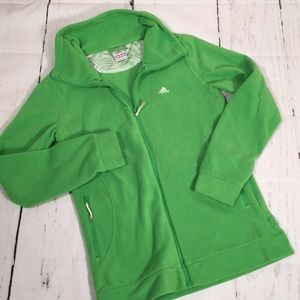 Adidas fleece zip-up jacket! Medium